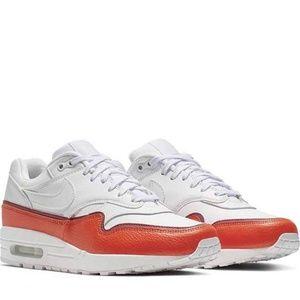 Air Max 1 SE Size 10 Shoes White Orange 881101 102